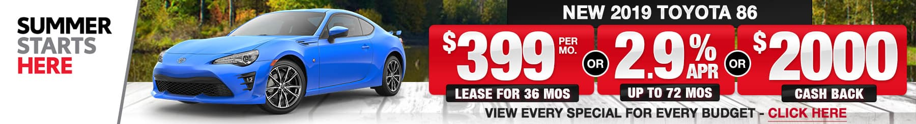 Toyota 86 Lease and Finance Specials