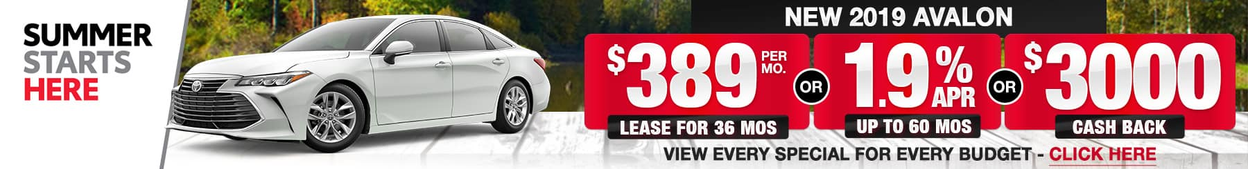 Toyota Avalon Lease Finance Specials