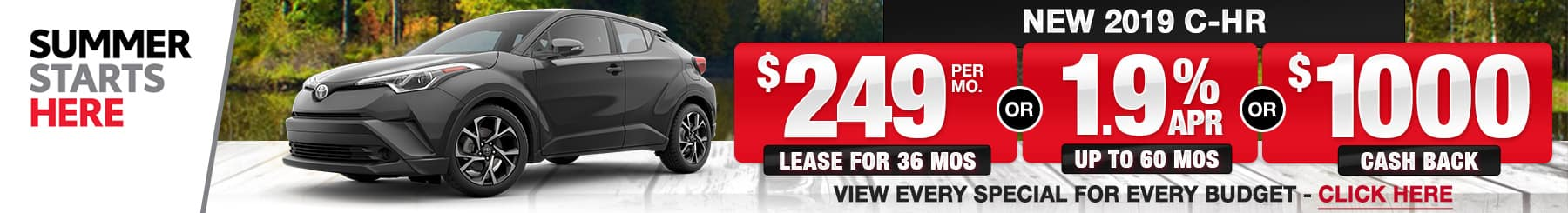 Toyota C-HR Lease Finance Specials