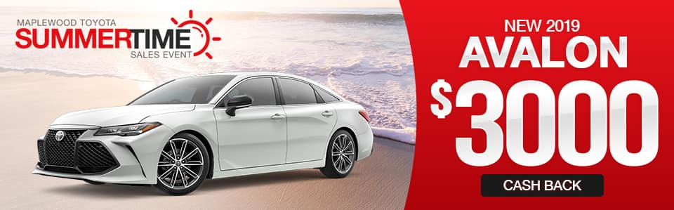 2019 Toyota Avalon Cash Back Special