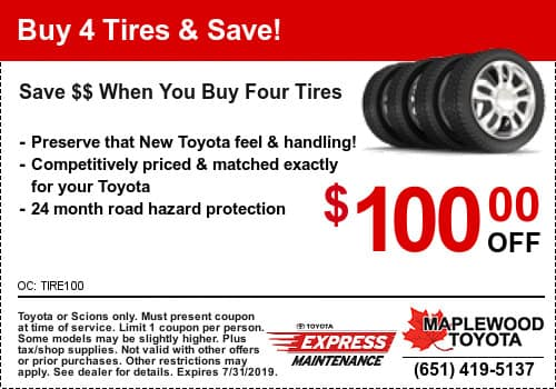Toyota Tire Deals >> Buy Toyota Tires Maplewood Maplewood Toyota