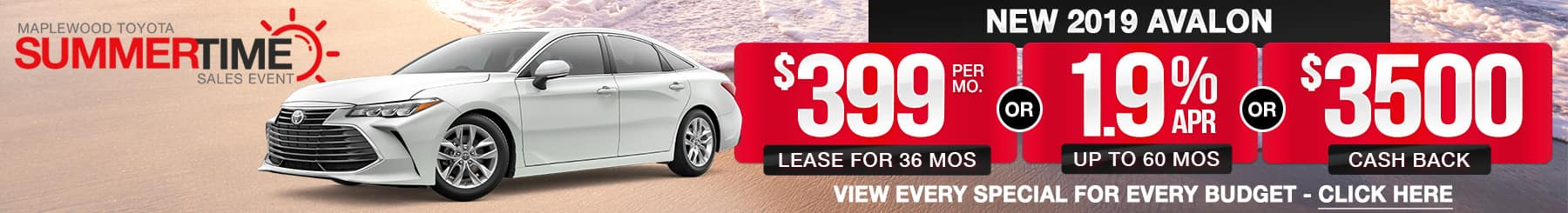 Toyota Avalon Lease or Finance Specials