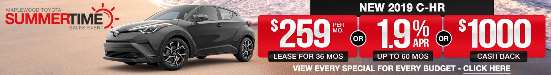 Toyota C-HR Lease Finance Offers