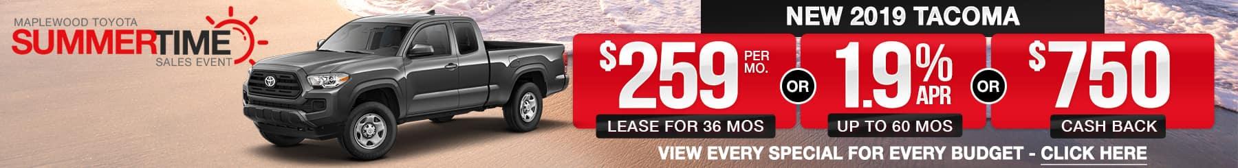 Toyota Tacoma Lease Finance Offers