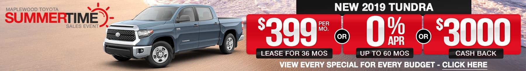 Toyota Tundra Lease Finance Offers