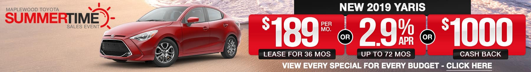 Toyota Yaris Lease Finance Offers