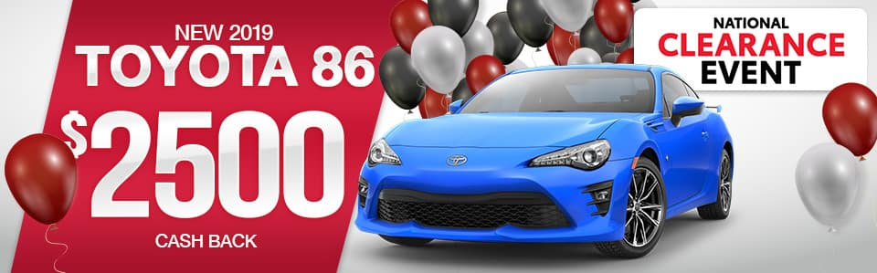 Toyota 86 Cash Back Special
