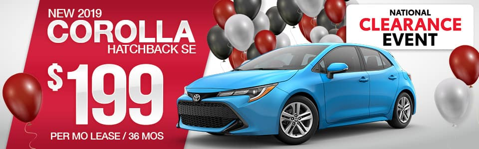 Toyota Corolla Hatchback Lease Special