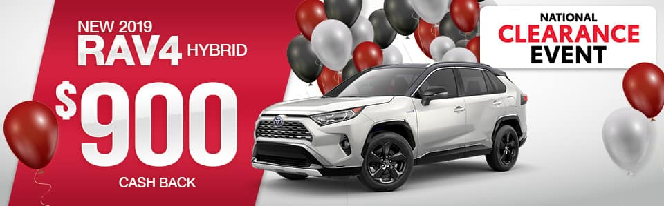 Toyota RAV4 Hybrid Cash Back Special
