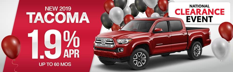 2019 Toyota Tacoma Finance Special