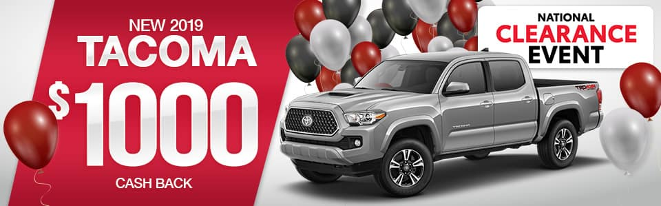 2019 Toyota Tacoma Cash Back Special
