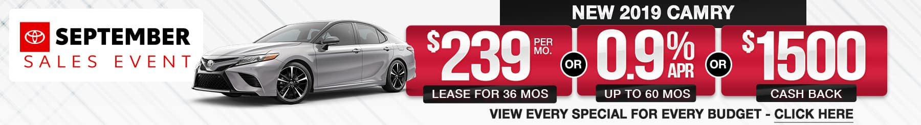 Toyota Camry Lease Finance Specials