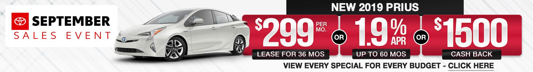 Toyota Prius Lease Finance Offers