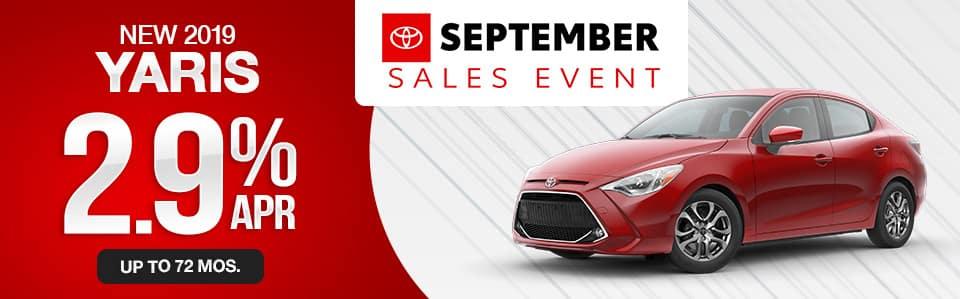 2019 Toyota Yaris Finance Special
