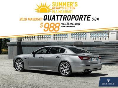 2019 Quattroporte Lease
