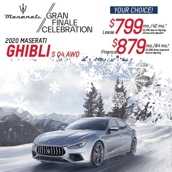2020 Ghibli  S Q4 AWD Lease & Finance Offers