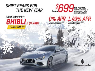 2020 Ghibli  S Q4 AWD Lease & Finance Offers