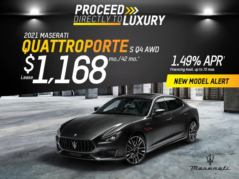 2021 Quattroporte S Q4 AWD Lease & Finance Offers