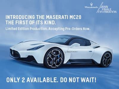 Introducing the All New 2021 Maserati MC20