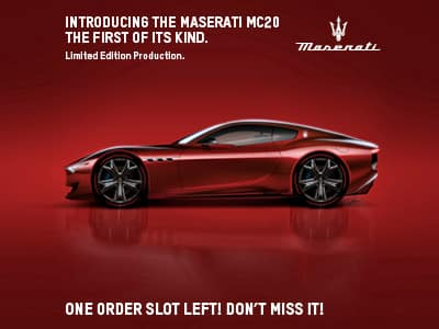 Introducing the All New 2021 Maserati MC20