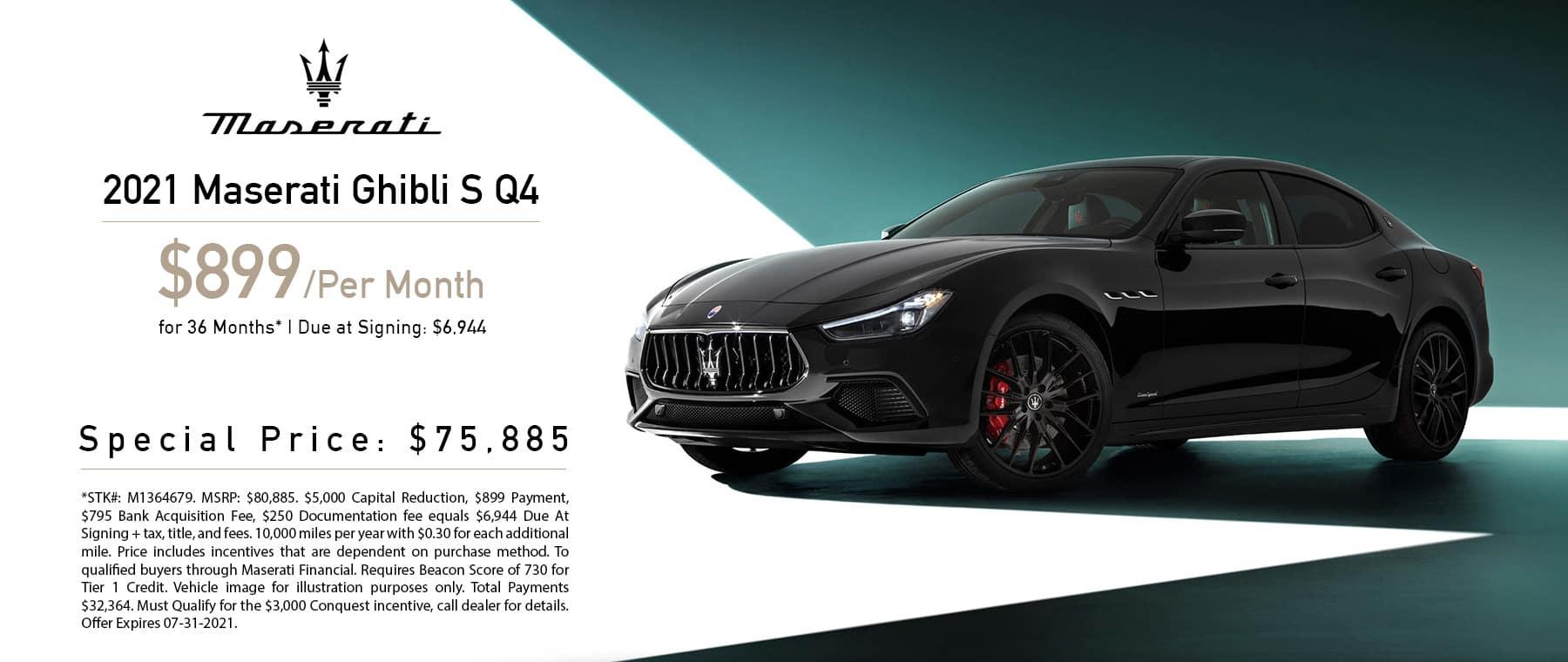 Maserati 2021 Ghibli Lease