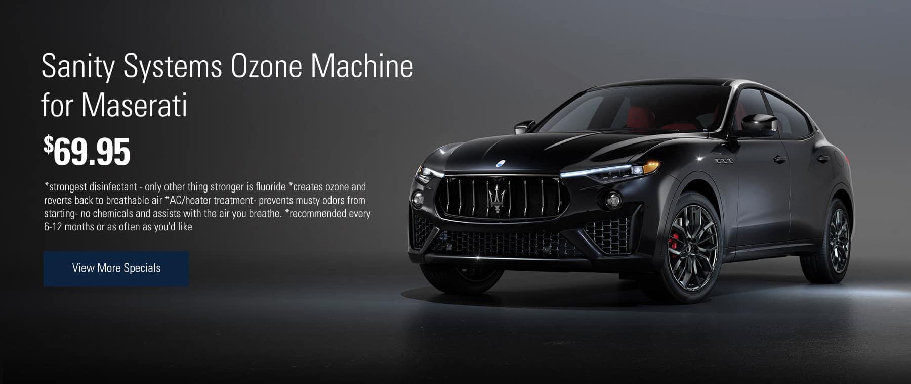 Sanity Systems Ozone Machine for Maserati