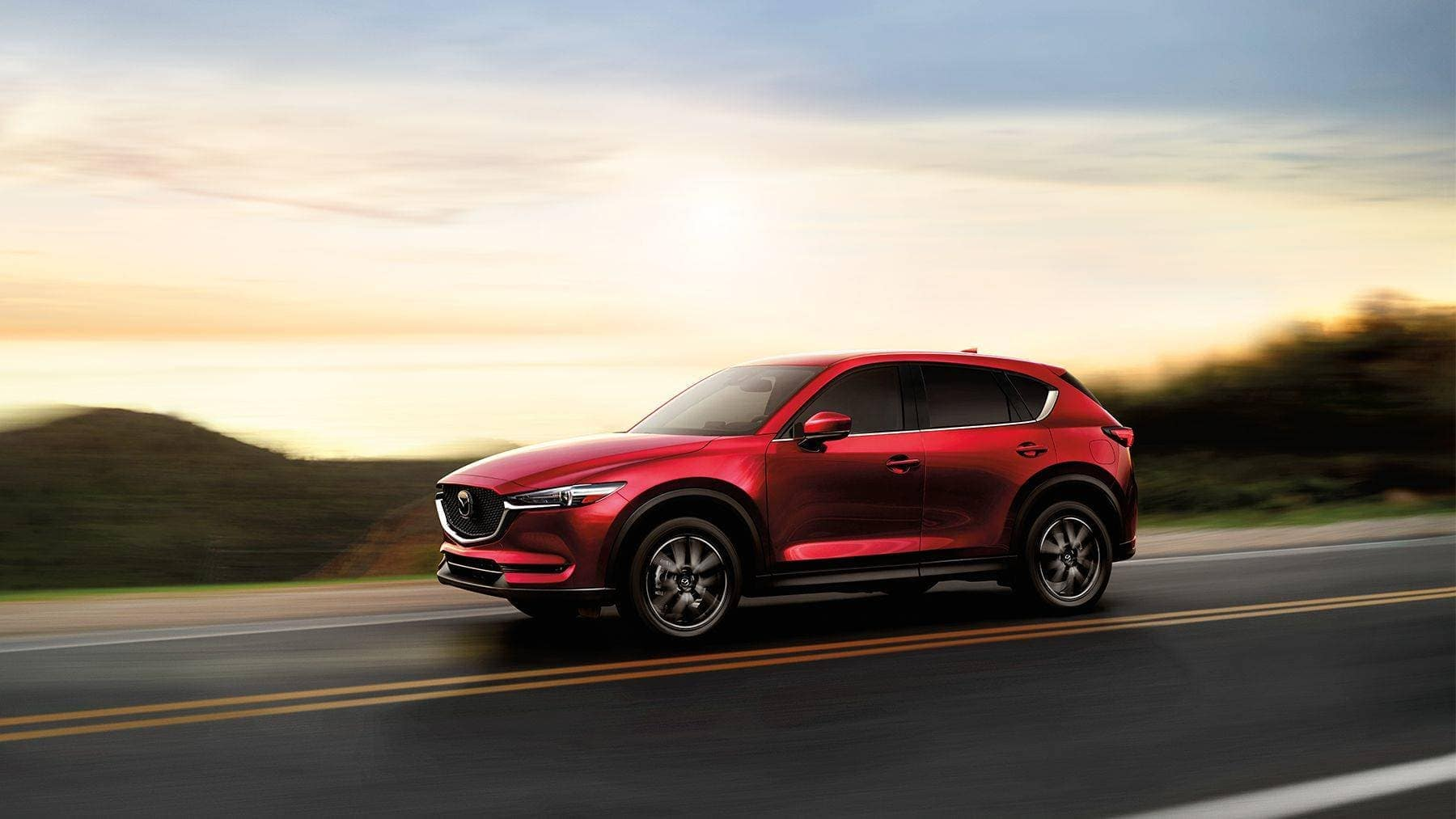 2018 Mazda CX-5 driving on the road