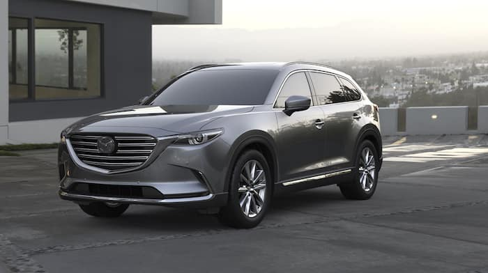 2019 CX-9 parked near house with view of city in background
