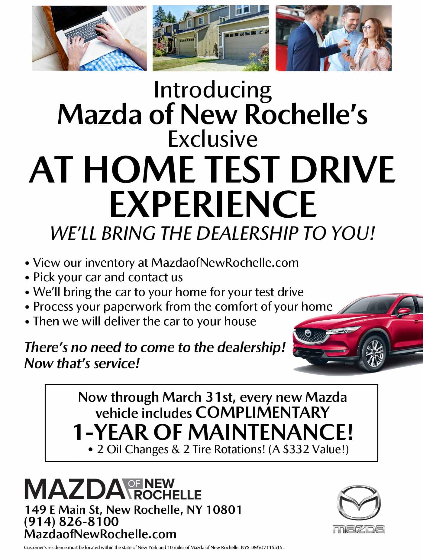 Mazda New Rochelle At Home Test Drive Mazda dealer NY New York