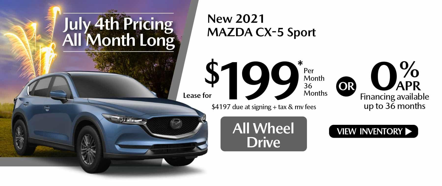 07 hi CX-5 New Lease Special Offer Mazda of New Rochelle NY