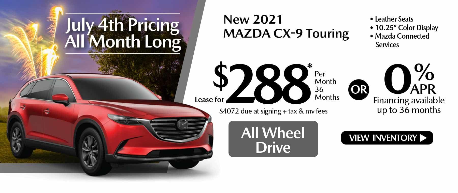 07 hi CX-9 New Lease Special Offer Mazda of New Rochelle NY