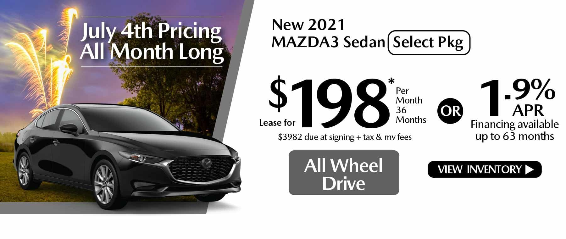 07 hi MAZDA3 New Lease Special Offer Mazda of New Rochelle NY