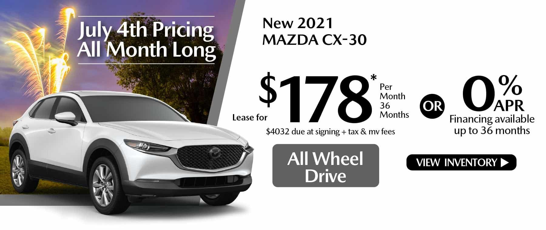 07 hi cx-30 New Lease Special Offer Mazda of New Rochelle NY