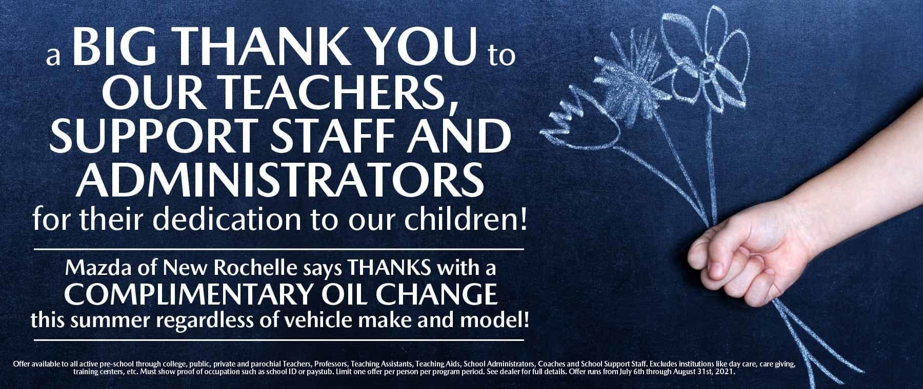 hi Thanks Teachers Mazda of New Rochelle NY sub