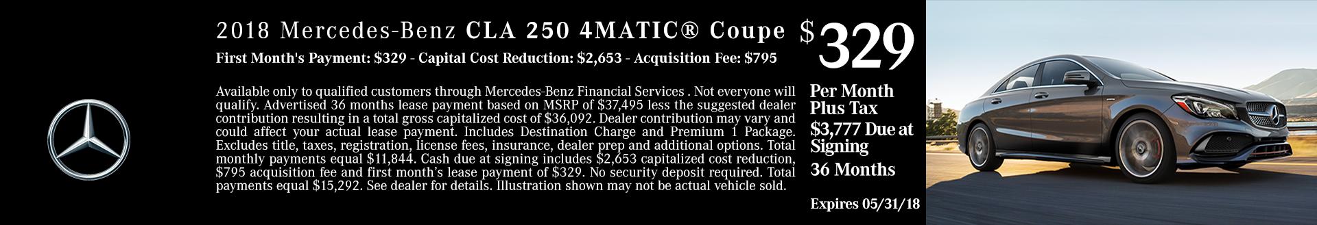2018 CLA 250 4MATIC Car For Sale Boise