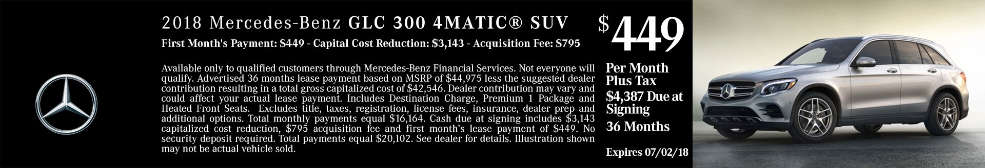 New 2018 Mercedes GLC 300 4MATIC SUV For Sale Boise