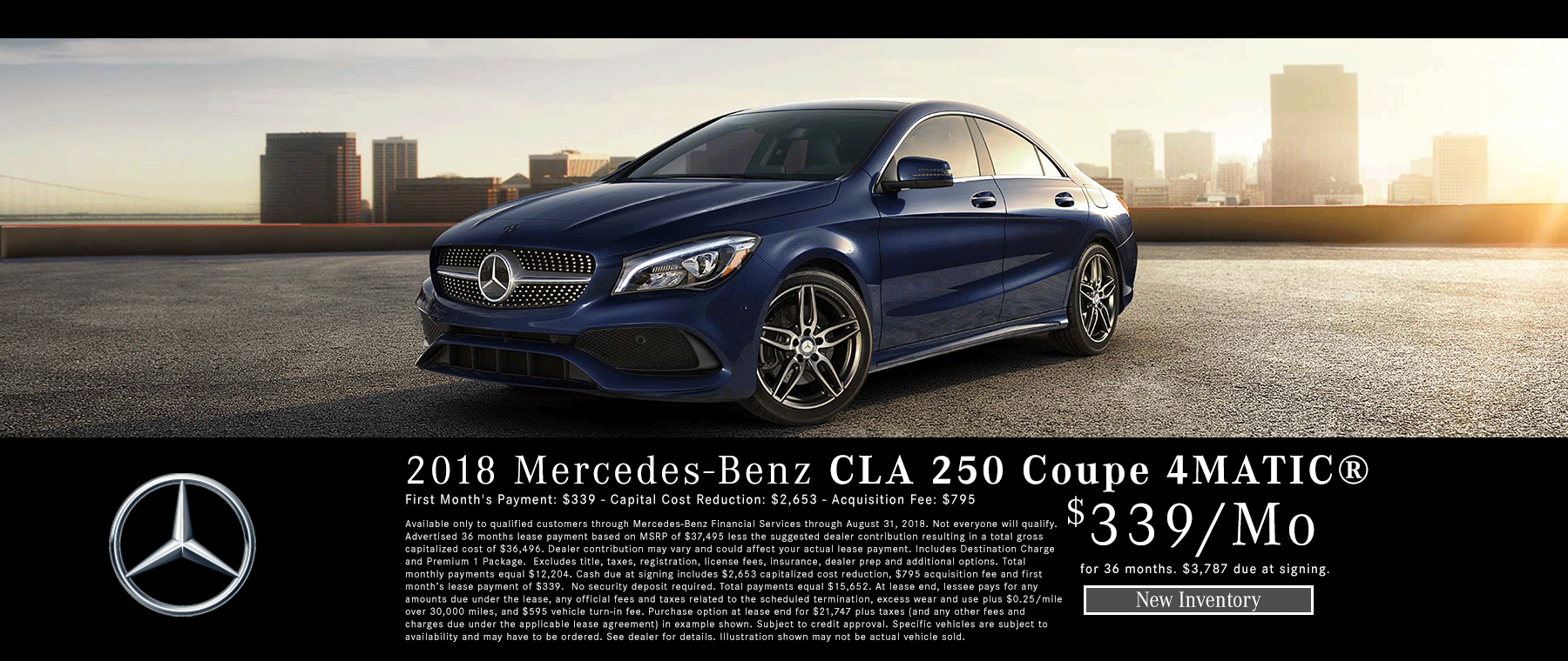 2018 CLA 250 COUPE 4MATIC Lease near Meridian