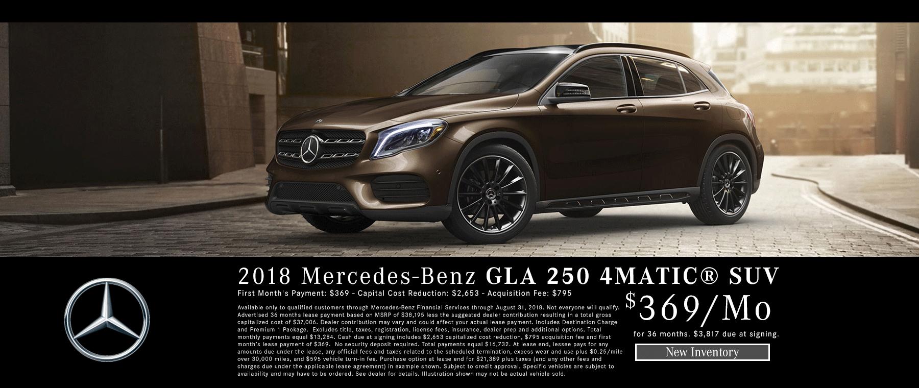 NEW MERCEDES-BENZ GLA 250 4MATIC® SUV Lease Near Meridian