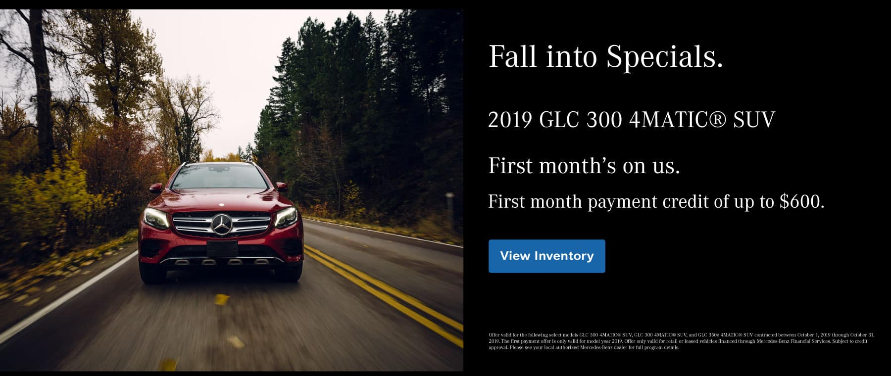 2019 GLC 300 First Payment Credit