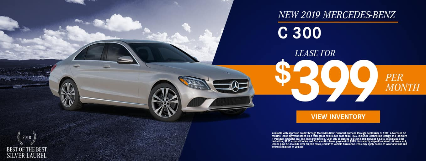 2019 Mercedes-Benz C 300 | Lease For $399 Per Month
