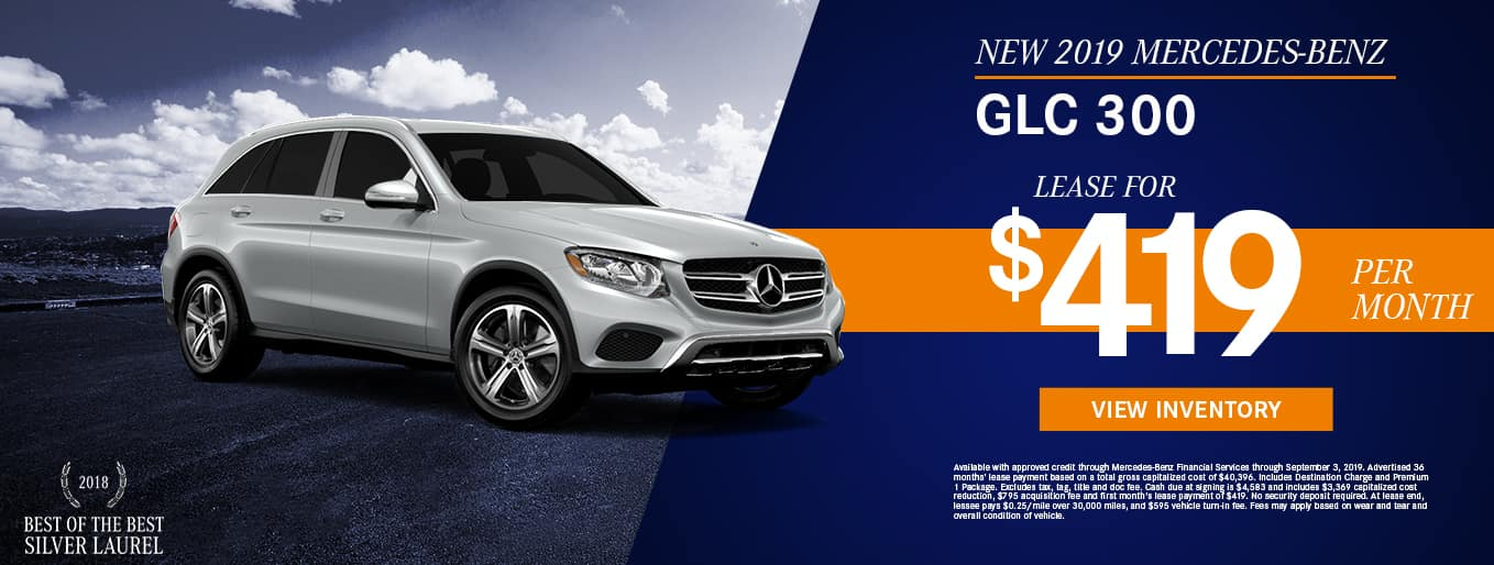 2019 Mercedes-Benz GLC 300 | Lease For $419 Per Month