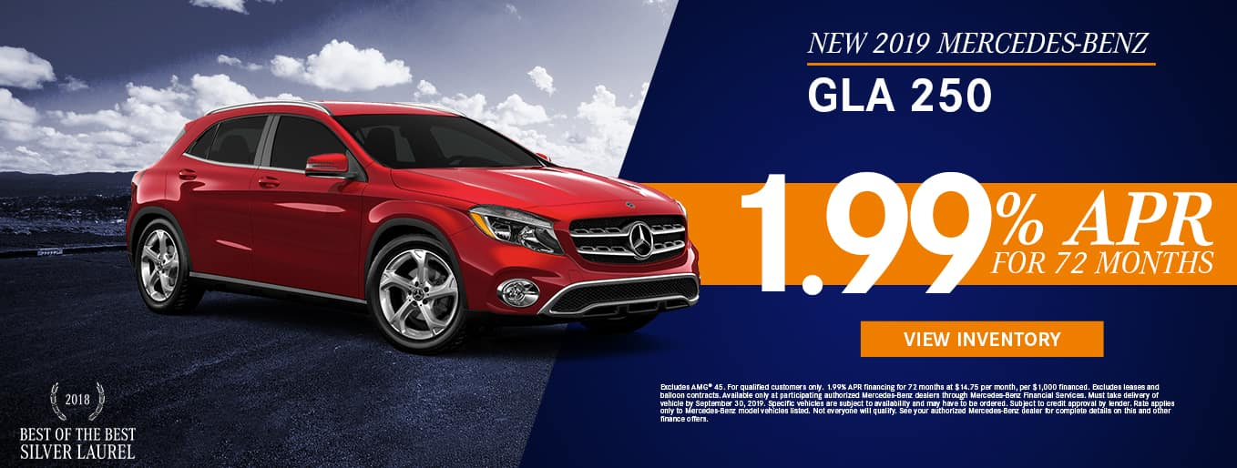 New 2019 Mercedes-Benz GLA 250 | 1.99% APR For 72 Months