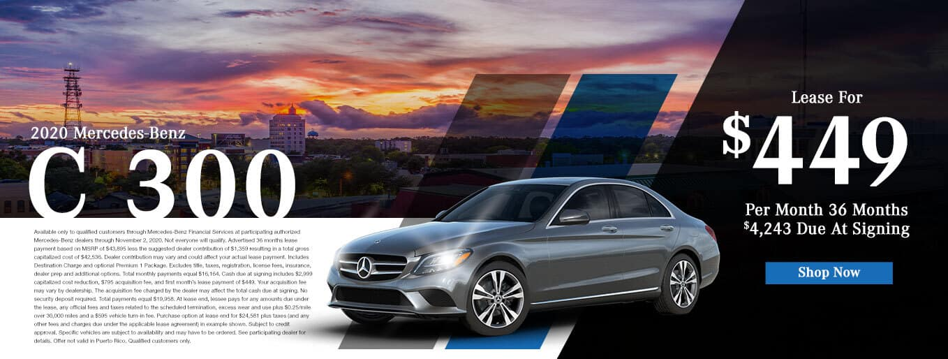 New 2020 Mercedes-Benz C 300 | $449/Mo for 36 Months With $4,243 Due At Signing