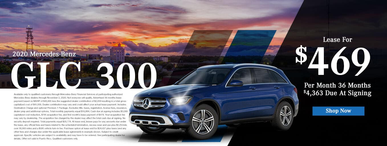 New 2020 Mercedes-Benz GLC 300 | $469/Mo for 36 Months With $4,363 Due At Signing