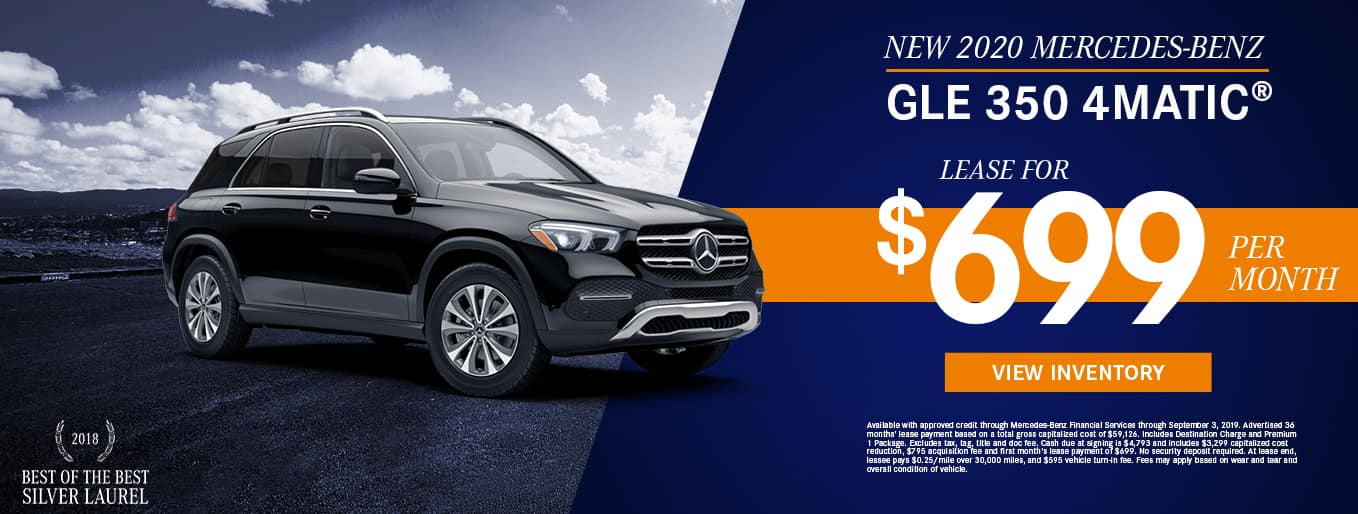 New 2020 Mercedes-Benz GLE 350 4MATIC® | Lease For $699 Per Month