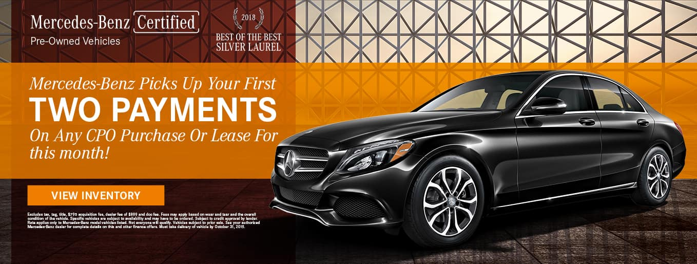 Mercedes-Benz Certified Pre-Owned Vehicles | 2018 Best Of The Best Silver Laurel | Mercedes_Benz Picks Up Your First Two Payments On Any CPO Purchase Or Lease For This Month!