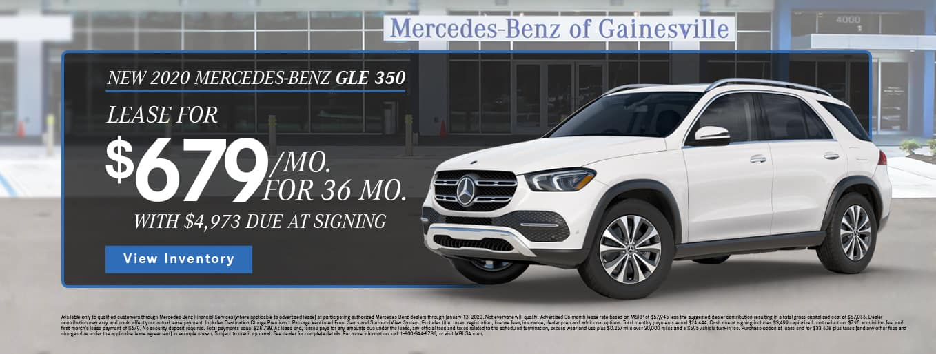 New 2020 Mercedes-Benz GLE 350 | Lease For $679/Mo For 36 Months With $4,973 Due At Signing