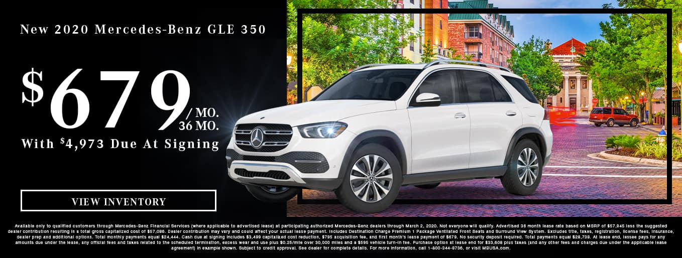 New 2020 Mercedes-Benz GLE 350 | $679/Mo for 36 Months With $4,973 Due At Signing
