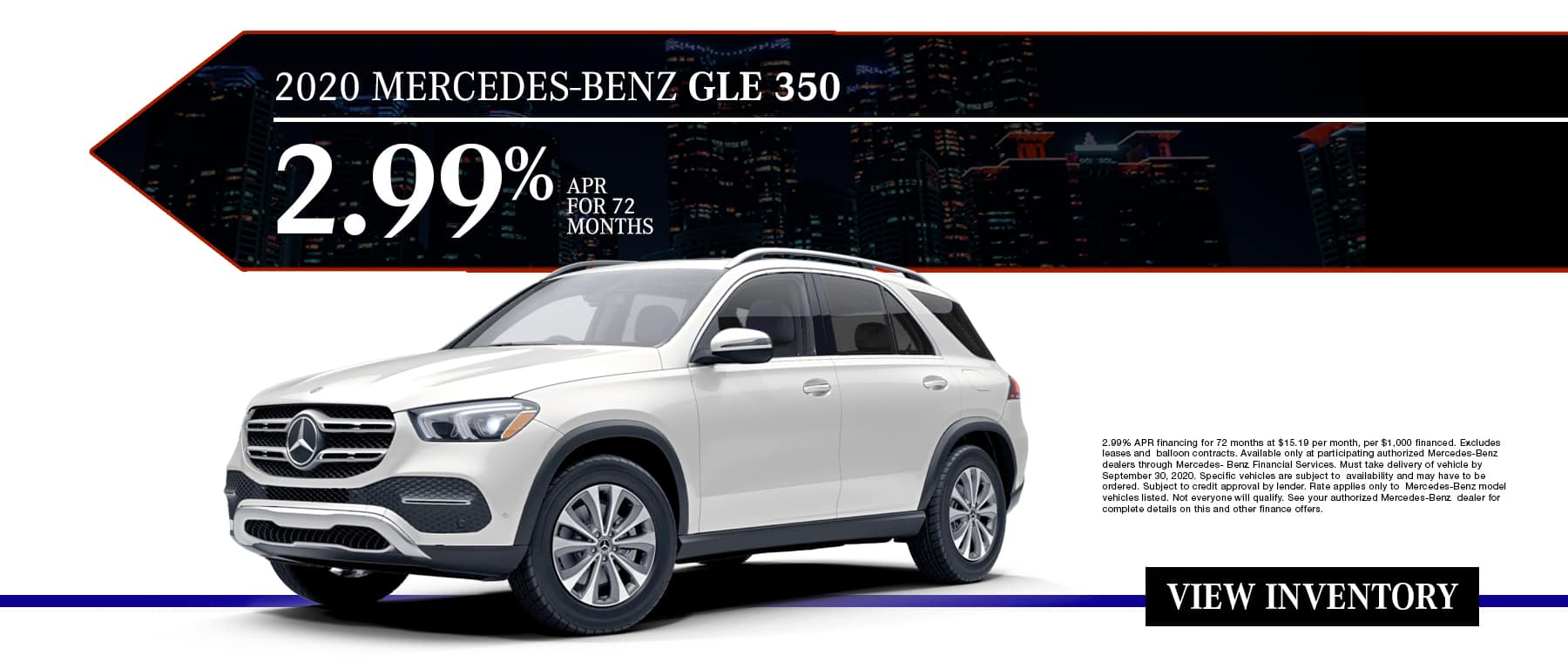 New 2020 Mercedes-Benz GLE 350 | 2.99% APR For 72 Months