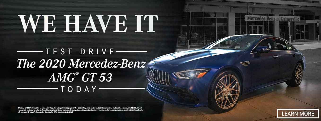We Have It! Test Drive The 2020 Mercedes-Benz AMG® GT 53 Today!